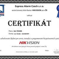 200507-Jan-Včelák-Certifikát-Hikvision