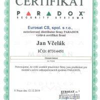certifikát jan včelák